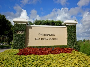 Breakers Rees Jones Golf Course Sign copy